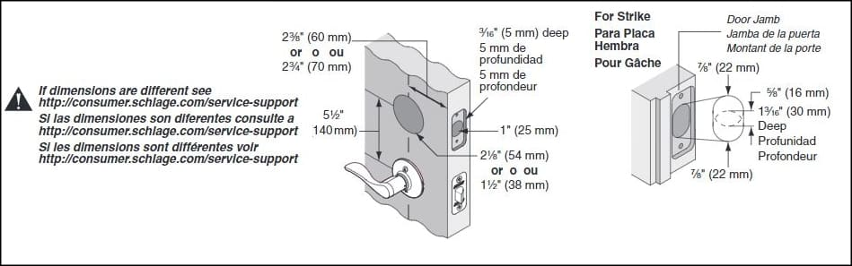 Schlage B60 B60cs B60f Or B62 Installation Guide